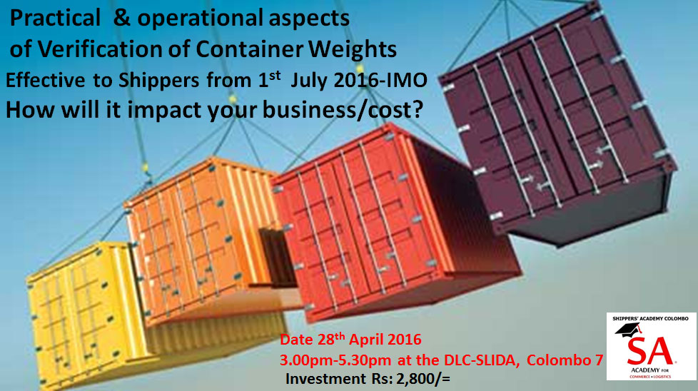 Operational & Practical Aspects of Weighing of Containers