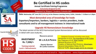 Certificate Training Programme on HS Codes