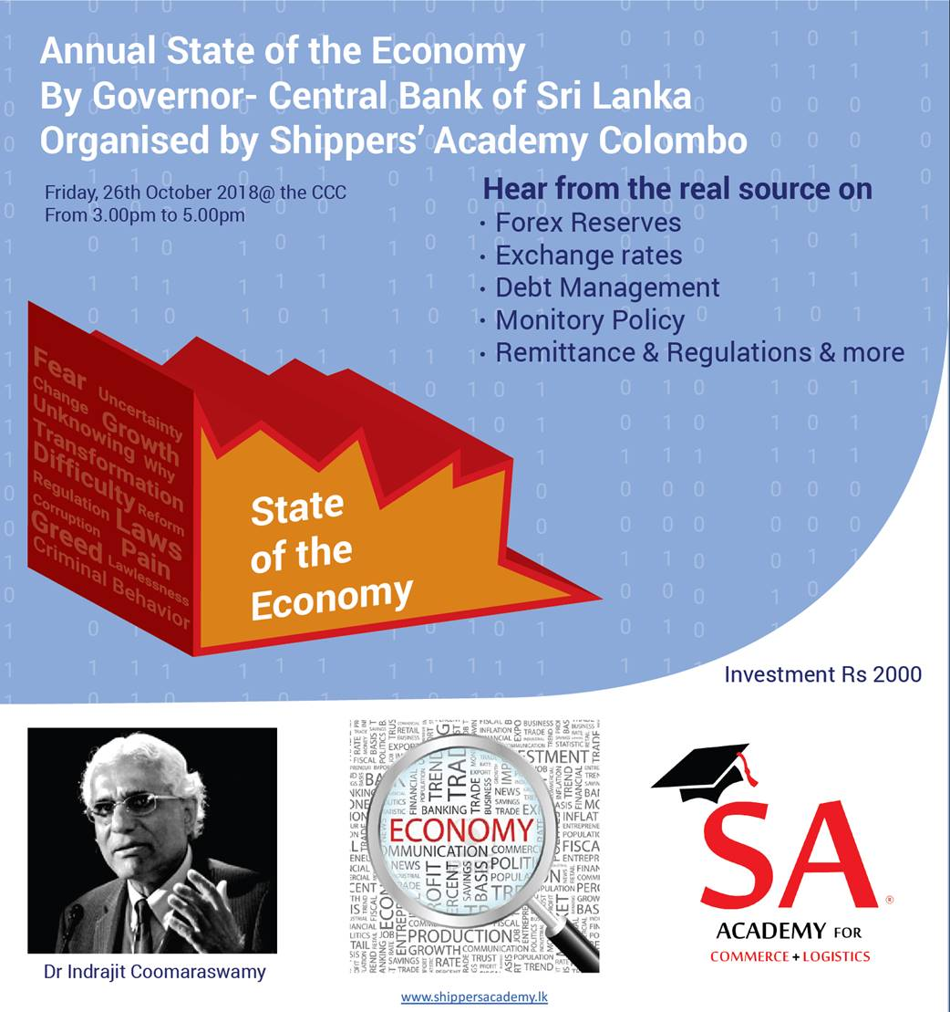 CBSL Governor speaks on the State of the Economy & external factors