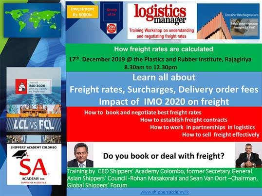 Workshop understanding ,negotiating and booking freight rates