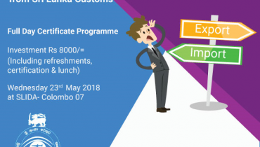 Certificate programme on Customs Import/Export Procedures